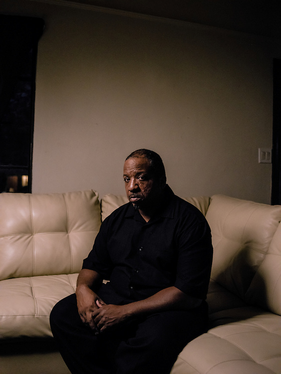Pastor Richard Braceful at his home in Detroit