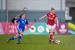 Yana Daniels of Bristol City Women under pressure from Paige Williams of Birmingham City Ladies - Mandatory by-line: Paul Knight/JMP - 28/03/2018 - FOOTBALL - Stoke Gifford Stadium - Bristol, England - Bristol City Women v Birmingham City Ladies - FA Women's Super League