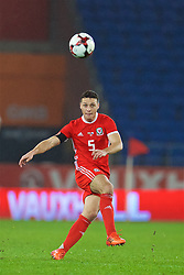 CARDIFF, WALES - Tuesday, November 14, 2017: Wales' James Chester during the international friendly match between Wales and Panama at the Cardiff City Stadium. (Pic by David Rawcliffe/Propaganda)