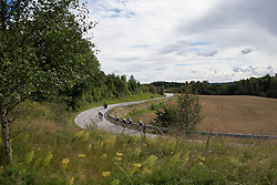 A small group on the front attacks the peloton during the 97,1 km second stage of the 2016 Ladies' Tour of Norway women's road cycling race on August 13, 2016 between Mysen and Sarpsborg, Norway. (Photo by Balint Hamvas/Velofocus)