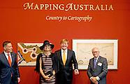 Koningspaar opent tentoonstelling Mapping Australia