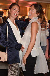 "Sisters Quentin Jones and Jemima Goldsmith at the opening of ""Frida Kahlo: Making Her Self Up"" Exhibition at the V&A Museum, London England. 13 June 2018."