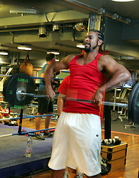 David Haye prepares to explode onto the Heavyweight division during an exclusive photo shoot at the Third Space Gym in Soho, London, 24th July 2008