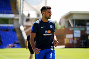 Peterborough United defender Ryan Tafazolli (5) warming up before the Pre-Season Friendly match between Peterborough United and Bolton Wanderers at London Road, Peterborough, England on 28 July 2018. Picture by Nigel Cole.