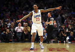 November 28, 2018 - Los Angeles, CA, U.S. - LOS ANGELES, CA - NOVEMBER 28: Los Angeles Clippers Guard Lou Williams (23) sets up on defense during an NBA game between the Phoenix Suns and the Los Angeles Clippers on November 28, 2018, at STAPLES Center in Los Angeles, CA. (Photo by Chris Williams/Icon Sportswire) (Credit Image: © Chris Williams/Icon SMI via ZUMA Press)