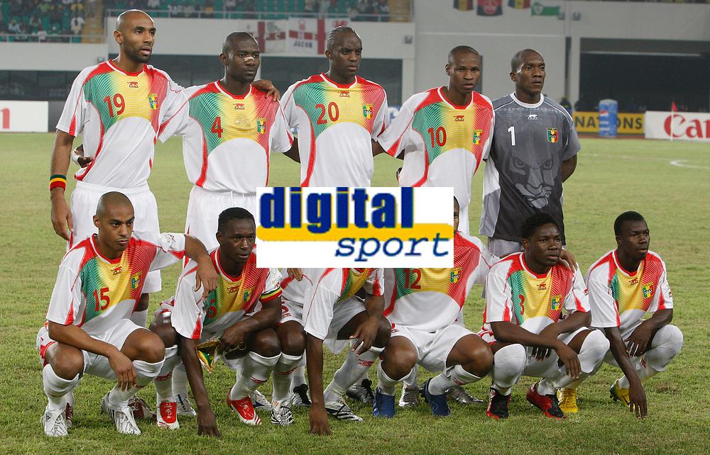 Photo: Steve Bond/Richard Lane Photography.<br /> Nigeria v Mali. Africa Cup of Nations. 25/01/2008. Mali line up