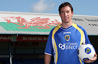 Photo: Rich Eaton.<br /> <br /> Cardiff City Press Conference. Coca Cola Championship. 24/07/2007. Robbie Fowler pictured at Ninian Park, where he was announed as a new signing by Cardiff City.