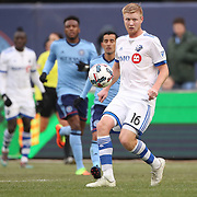 NEW YORK, NEW YORK - March 18: Calum Mallace #16 of Montreal Impact in action during the New York City FC Vs Montreal Impact regular season MLS game at Yankee Stadium on March 18, 2017 in New York City. (Photo by Tim Clayton/Corbis via Getty Images)