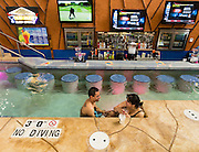 Mud Hut Swim-Up bar at Kalahari Resorts in Wisconsin Dells, Wis. (Photo © Andy Manis)