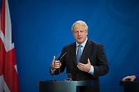 DEU, Deutschland, Germany, Berlin, 21.08.2019: Der Premierministers von Großbritannien, Boris Johnson, und Bundeskanzlerin Dr. Angela Merkel (CDU) bei einer gemeinsamen Pressekonferenz im Bundeskanzleramt.