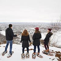 2018 UWL Miller Bluff Snowshoeing