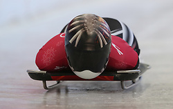 Canada's Jane Channell during the Women's Skeleton practice on day three of the PyeongChang 2018 Winter Olympic Games in South Korea. PRESS ASSOCIATION Photo. Picture date: Monday February 12, 2018. See PA story OLYMPICS Skeleton. Photo credit should read: David Davies/PA Wire. RESTRICTIONS: Editorial use only. No commercial use.