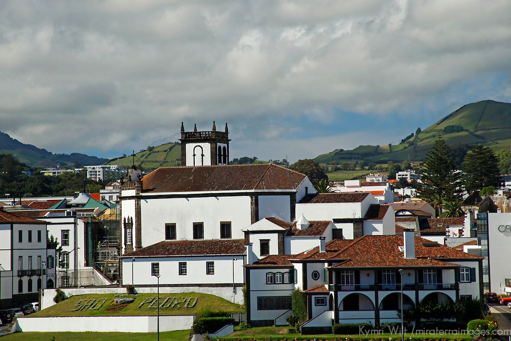 Europe, Portugal Azores. Ponta Delgada cruise port on the isalnd of São Miguel.