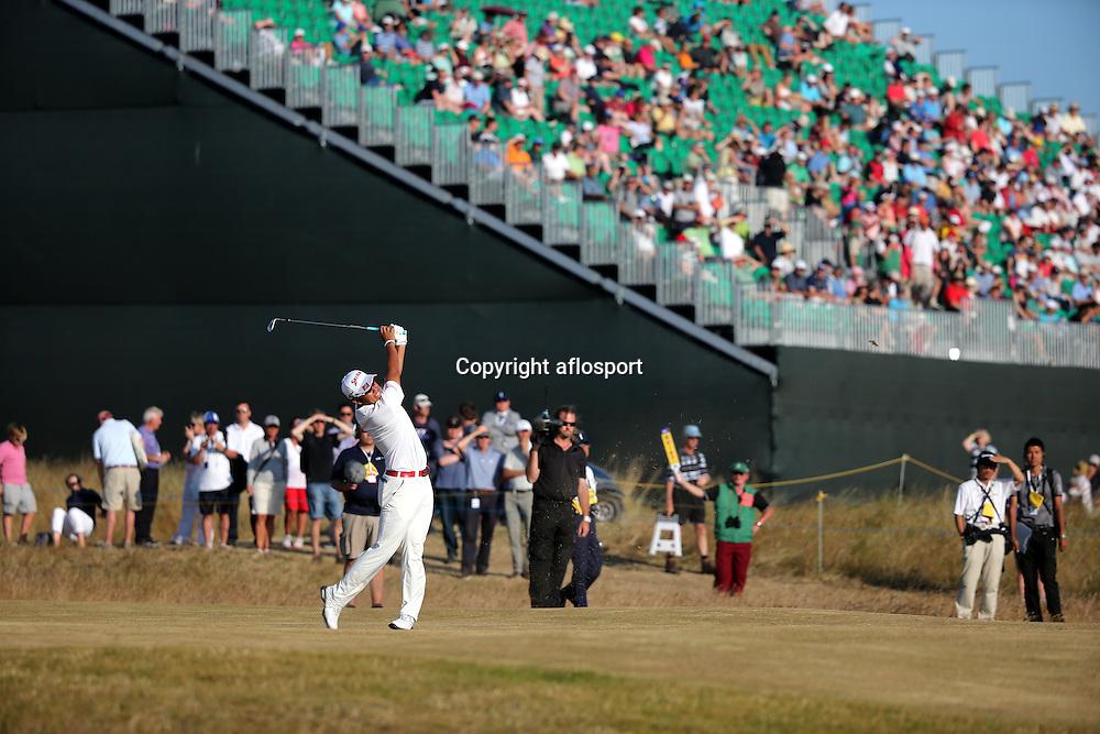 Hideki Matsuyama (JPN),<br /> JULY 19, 2013 - Golf :<br /> Hideki Matsuyama of Japan in action on 15th hole during the second round of the <br /> 142nd British Open Championship at Muirfield in Gullane, East Lothian, Scotland.<br /> (Photo by Koji Aoki/AFLO SPORT) [0008]