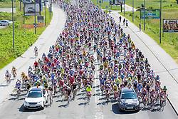 Riders during cycling Mali Maraton Franja BTC City (97km),  on June 9, 2013 in Ljubljana, Slovenia. (Photo By Vid Ponikvar / Sportida)