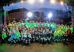 Group photo during reception of Slovenian Winter athletes after the end of season 2015/16, on March 22, 2016 in Kongresni trg, Ljubljana, Slovenia. Photo by Matic Klansek Velej / Sportida