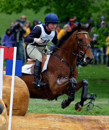 Kim Severson (USA) and Winsome Adante at the Rolex Kentucky Three-Day Event.