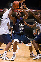PF Wally Judge (Jacksonville, FL / Arlington Country Day) fights his way through traffic. The NBA Player's Association held their annual Top 100 basketball camp at the John Paul Jones Arena on the Grounds of the University of Virginia in Charlottesville, VA on June 20, 2008