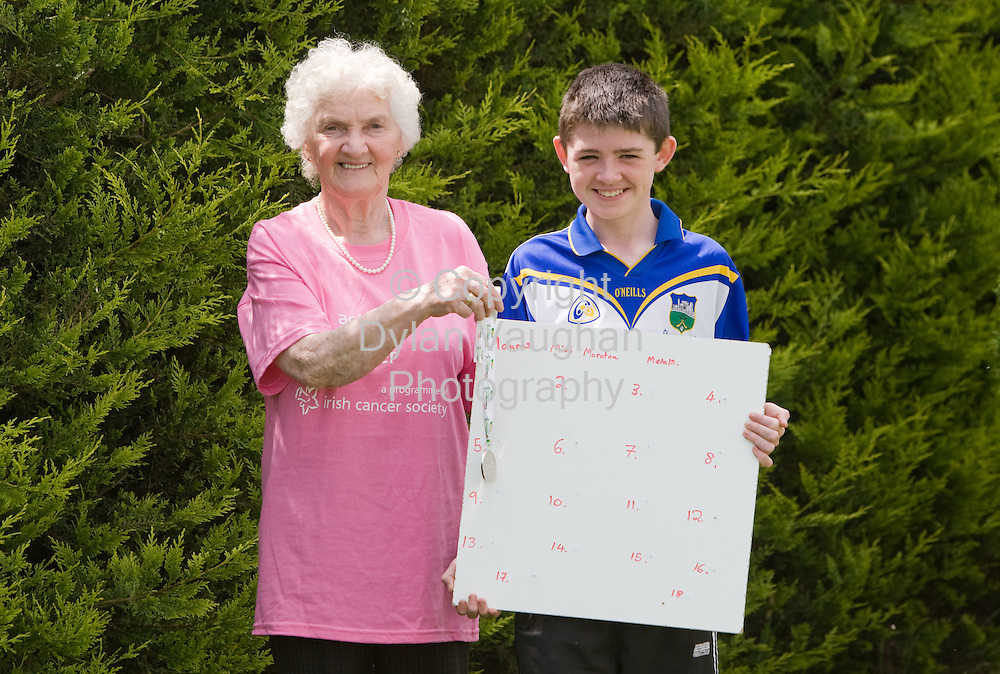 31/5/2008.Maureen Armstrong pictured with her grandson Kevin Heffernan aged 14 at Two Mile Borris County Tipperary..Picture Dylan Vaughan.