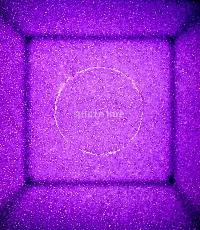 Circle in square abstraction in purple
