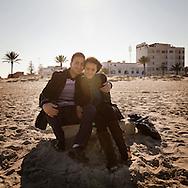 TUNISIA, Mahdia : A young couple poses for a portrait in Mahdia. Copyright Christian Minelli.