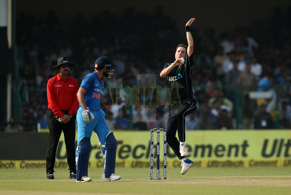 Adam Milne of New Zealand during the 3rd One Day International match between India and New Zealand held at the Green Park stadium in Kanpur. 29th October 2017Photo by Prashant Bhoot / BCCI / SPORTZPICS