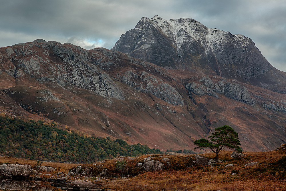Slioch Mountain, Loch Maree, Wester Ross in the Northwest Highlands of Scotland