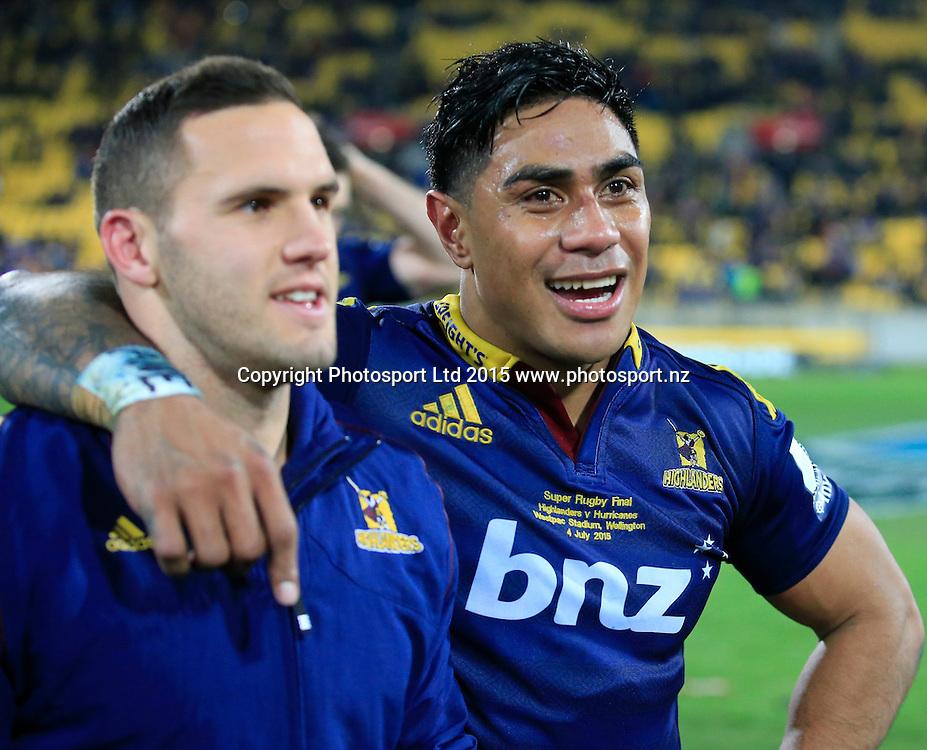 Highlanders Malakai Fekitoa.   Super Rugby Final, Hurricanes v Highlanders. Westpac Stadium, Wellington, New Zealand. 4 July 2015. Copyright Photo: John Cowpland / www.photosport.nz