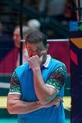 09–01-2020 NED: Olympic qualification tournament women, Apeldoorn<br /> Bulgaria - Azerbaijan / Head Coach Vasif Talibov of Azerbaijan