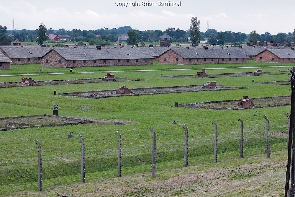 The heaters and foundations remain of many barracks in Auschwitz-Birkenau Concentration Camp in Poland on Tuesday July 5th 2011.  (Photo by Brian Garfinkel)
