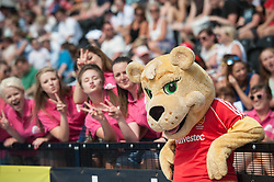 England mascot Jess and some of her posse - Out & About at Day Three of the Investec London Cup, Lee Valley Hockey & Tennis Centre, London, UK on 12 July 2014. Photo: Simon Parker