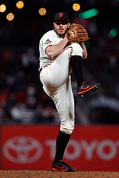 SAN FRANCISCO, CA - SEPTEMBER 24: Ty Blach #50 of the San Francisco Giants pitches against the San Diego Padres during the sixth inning at AT&T Park on September 24, 2018 in San Francisco, California. The San Diego Padres defeated the San Francisco Giants 5-0. (Photo by Jason O. Watson/Getty Images) *** Local Caption *** Ty Blach