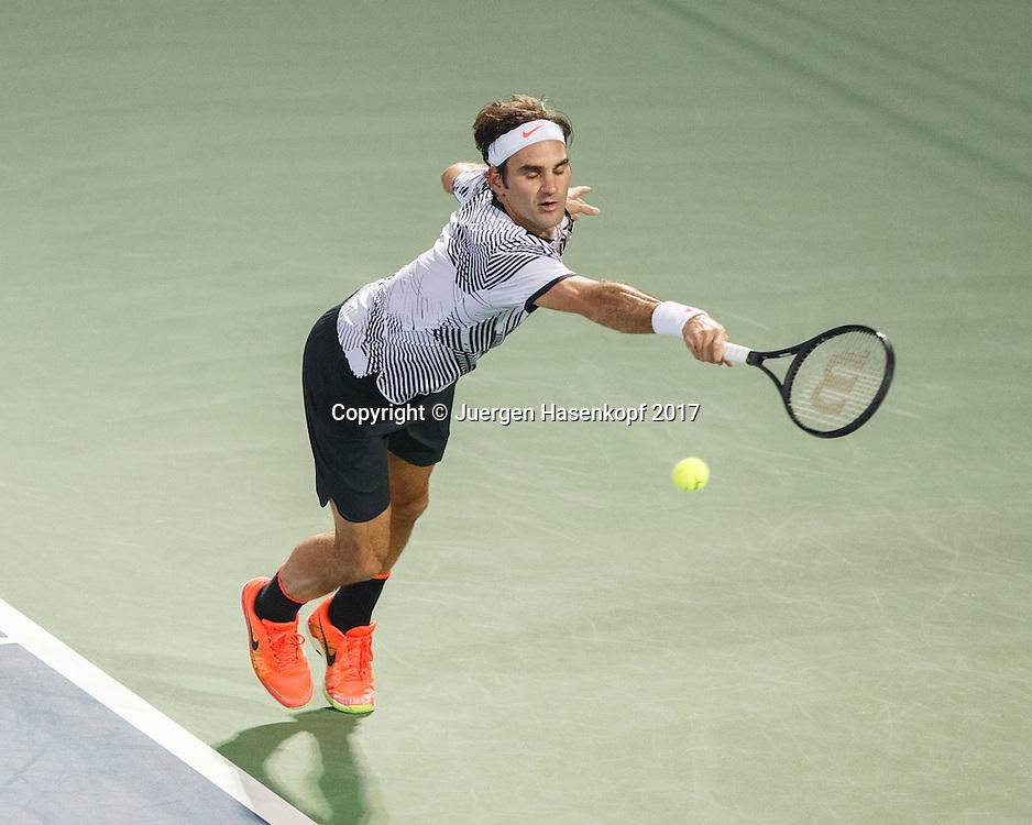 ROGER FEDERER (SUI)<br /> <br /> Tennis - Dubai Duty Free Tennis Championships - ATP -  Dubai Duty Free Tennis Stadium - Dubai -  - United Arab Emirates  - 1 March 2017. <br /> &copy; Juergen Hasenkopf