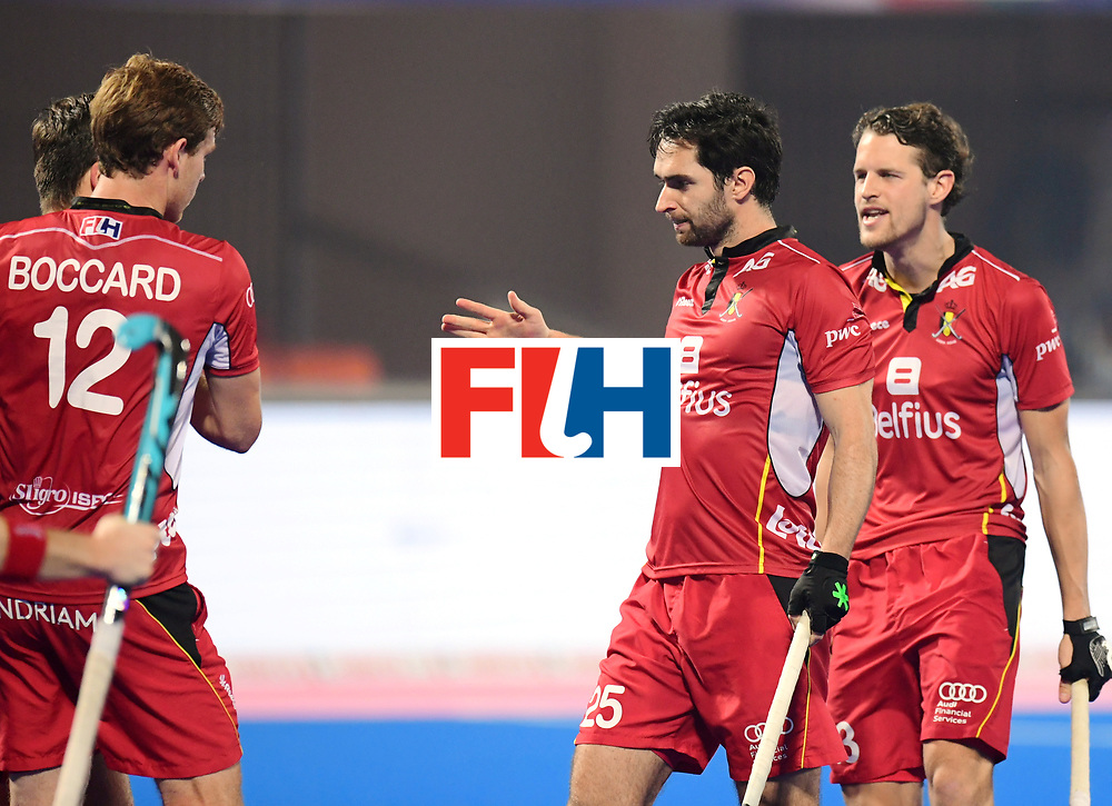 Odisha Men's Hockey World League Final Bhubaneswar 2017<br /> Match id:07<br /> Belgium v Spain<br /> Foto: Loick Luypaert (Bel) scored a goal<br /> WORLDSPORTPICS COPYRIGHT FRANK UIJLENBROEK