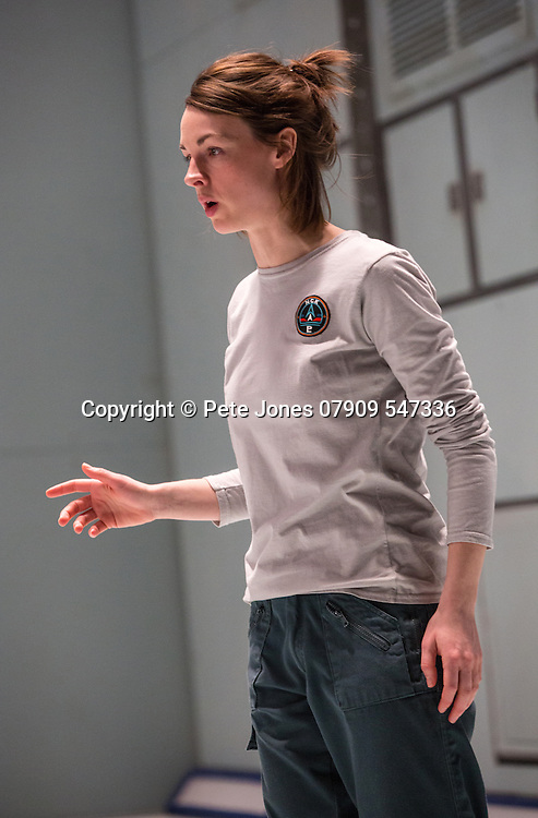 """X"" by McDOWALL;<br /> Directed by Vicky Featherstone;<br /> Jessica Raine (as Gilda);<br /> 1 April 2016;<br /> Jerwood Theatre Downstairs, Royal Ct, London, UK"