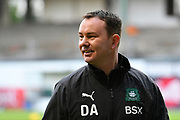 Plymouth Argyle manager Derek Adams before the EFL Sky Bet League 1 match between Plymouth Argyle and Accrington Stanley at Home Park, Plymouth, England on 22 December 2018.
