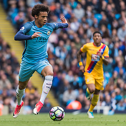 Manchester City midfielder Leroy Sane (19) on the ball<br /> in the English Premier League match between Manchester City and Crystal Palace<br /> (c) John Baguley | SportPix.org.uk