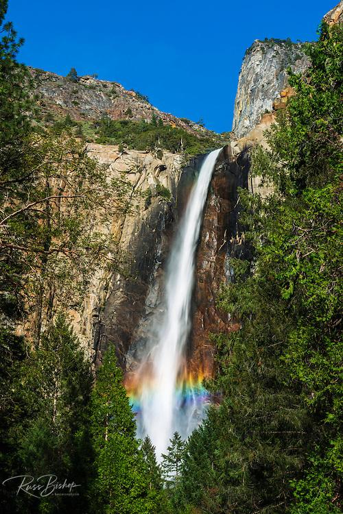 Rainbow over Bridalveil Fall, Yosemite National Park, California USA