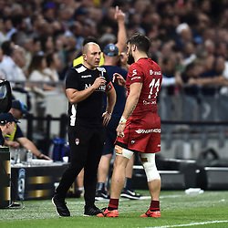 Pierre Mignoni head coach of Lyon during the Top 14 semi final match between Montpellier Herault Rugby and Lyon on May 25, 2018 in Lyon, France. (Photo by Alexandre Dimou/Icon Sport)