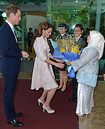 "CATHERINE, DUCHESS OF CAMBRIDGE AND PRINCE WILLIAM.are greeted on arrival at Changi Airport, at the start of their 2-day Tour of Singapore_11/09/2012.Mandatory credit photo: ©DIASIMAGES..""No UK Sales Until 9th October 2012""..(Failure to credit will incur a surcharge of 100% of reproduction fees)..                **ALL FEES PAYABLE TO: ""NEWSPIX INTERNATIONAL""**..IMMEDIATE CONFIRMATION OF USAGE REQUIRED:.DiasImages, 31a Chinnery Hill, Bishop's Stortford, ENGLAND CM23 3PS.Tel:+441279 324672  ; Fax: +441279656877.Mobile:  07775681153.e-mail: info@newspixinternational.co.uk"