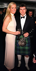 MR & MRS PAUL STEWART he is the son of racing driver Jackie Stewart, at a dinner in London on 25th January 2000.OAI 45