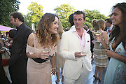 Alice Temperley and Daniel Brennan, The Summer Party sponsored by Yves St. Laurent. Serpentine Gallery. 11 July 2006. . ONE TIME USE ONLY - DO NOT ARCHIVE  © Copyright Photograph by Dafydd Jones 66 Stockwell Park Rd. London SW9 0DA Tel 020 7733 0108 www.dafjones.com
