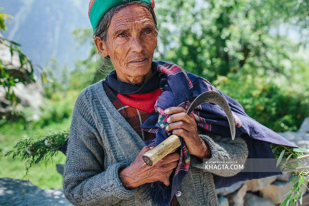 Portrait of an old Kinnauri Lady