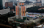 KUNMING, CHINA - SEPTEMBER 07: (CHINA OUT) <br /> <br /> Old Landmark Building In China Demolished In Controlled Blasting<br /> <br /> The Workers' Cultural Palace collapses after being demolished by explosives on September 7, 2013 in Kunming, Yunnan Province of China. The 70-metre-high building has been a recreational centre for residents since being completed in 1982. <br /> ©Exclusivepix