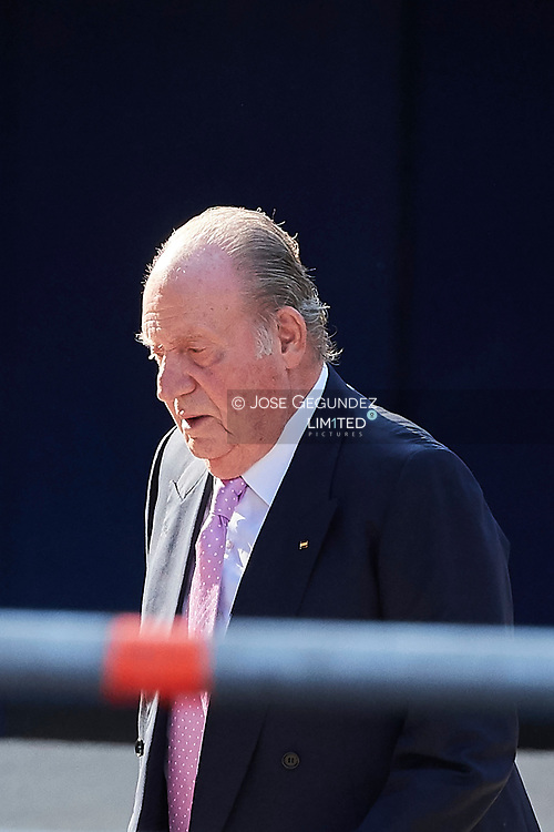 King Juan Carlos of Spain attended the Presentation of the COTEC Report at Vicente Calderon Stadium on June 12, 2017 in Madrid