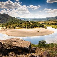 Beautiful meander on Arda river before Ivailovgrad lake