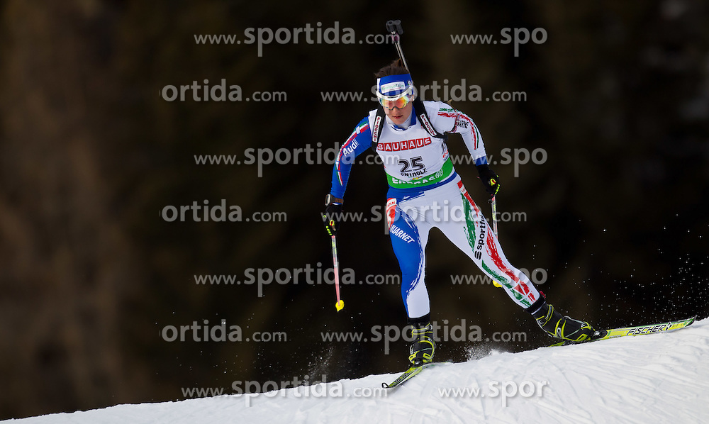 21.01.2011, Südtirol Arena, Antholz, ITA, IBU Biathlon Worldcup, Antholz, Sprint Women, im Bild Katja Haller (ITA) // Katja Haller (ITA) during IBU Biathlon World Cup in Antholz, Italy, EXPA Pictures © 2011, PhotoCredit: EXPA/ J. Feichter