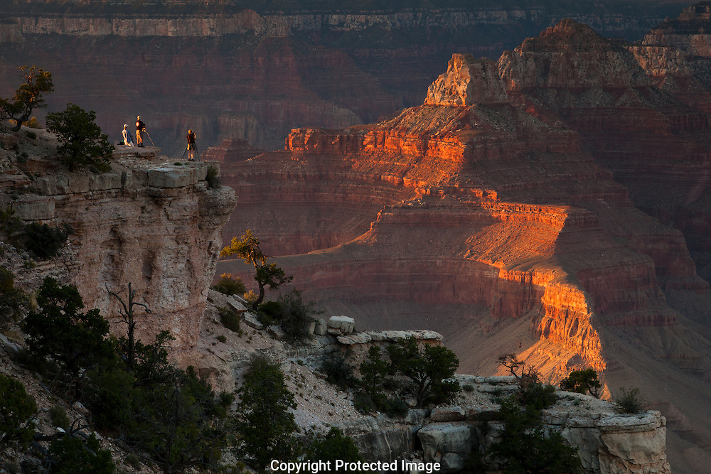 GCFI photographers sunset on Shoshone Point, South Rim, Grand Canyon