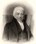 Samuel Taylor Coleridge (1772-1834) English poet, critic and philosopher, born at Ottery St Mary, Devon.  A friend of William Wordsworth. A founder of the Romantic movement and one of the Lake Poets.  Addicted to opium. Stipple engraving published London, 1837.