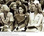 Nan Kempner, Mrs. Wrightsman, Susan Gutfreund. Couture fashion show. Paris. July 1991. Film 91871f30<br />© Copyright Photograph by Dafydd Jones<br />66 Stockwell Park Rd. London SW9 0DA<br />Tel 0171 733 0108